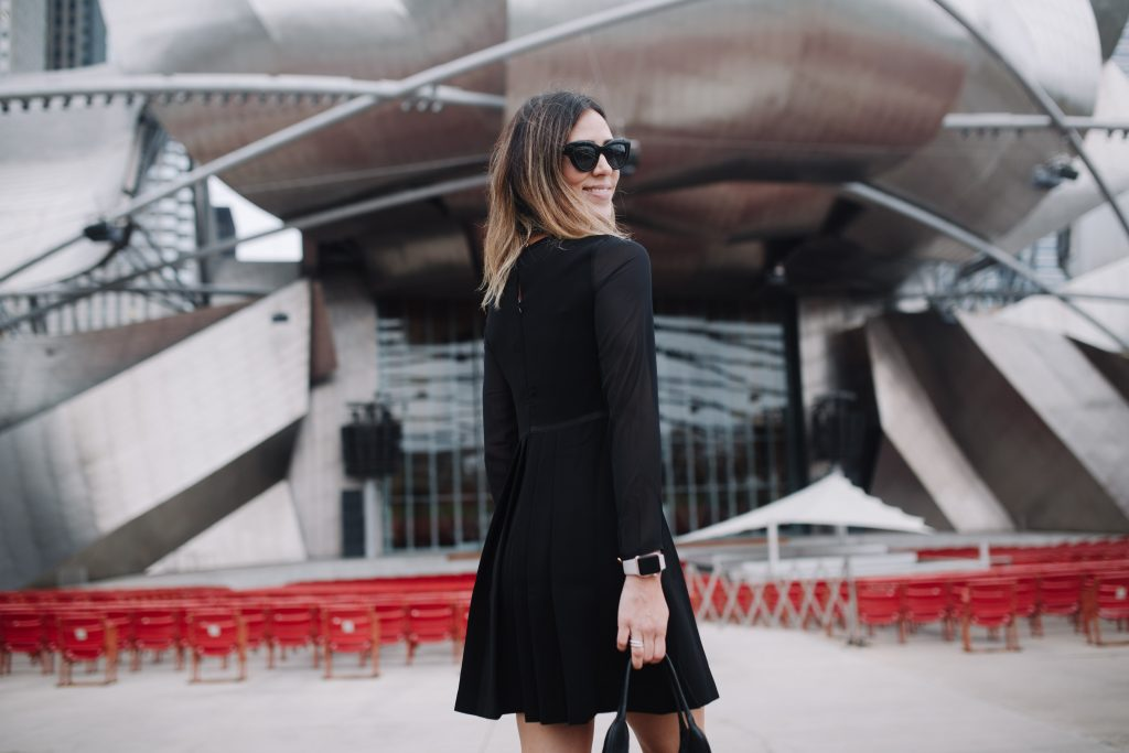 Maison Jules Bow Detail Dress and Chicago Fashion Blogger