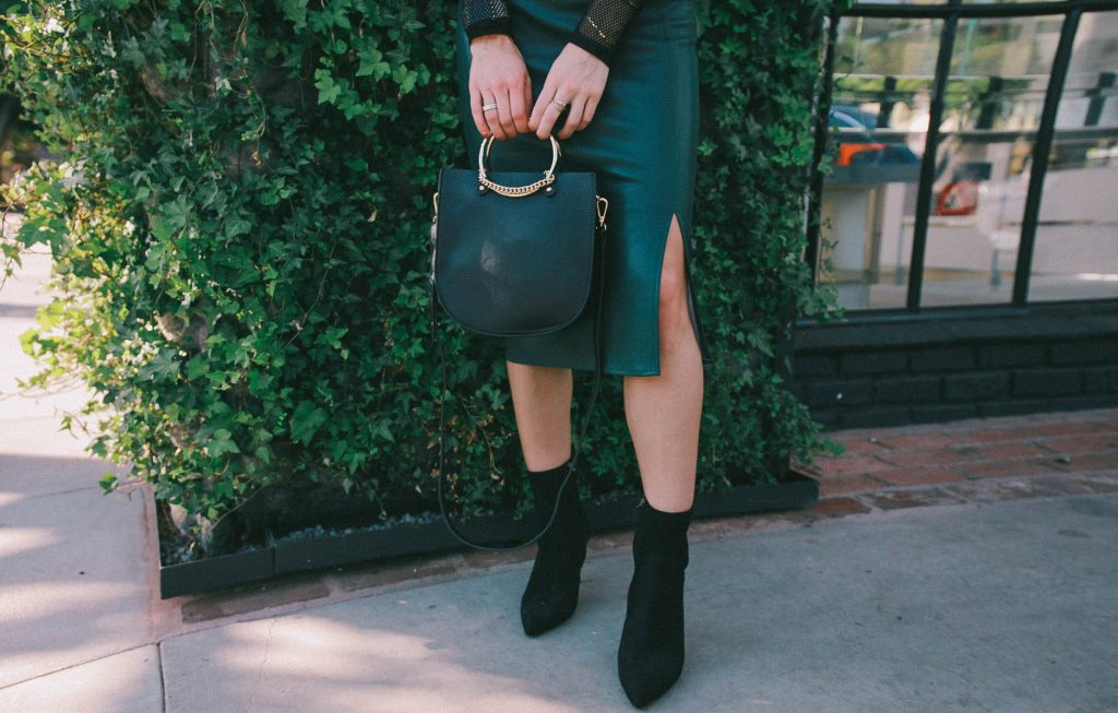 Nine West Suede Ankle Booties and Chicago Fashion Blogger