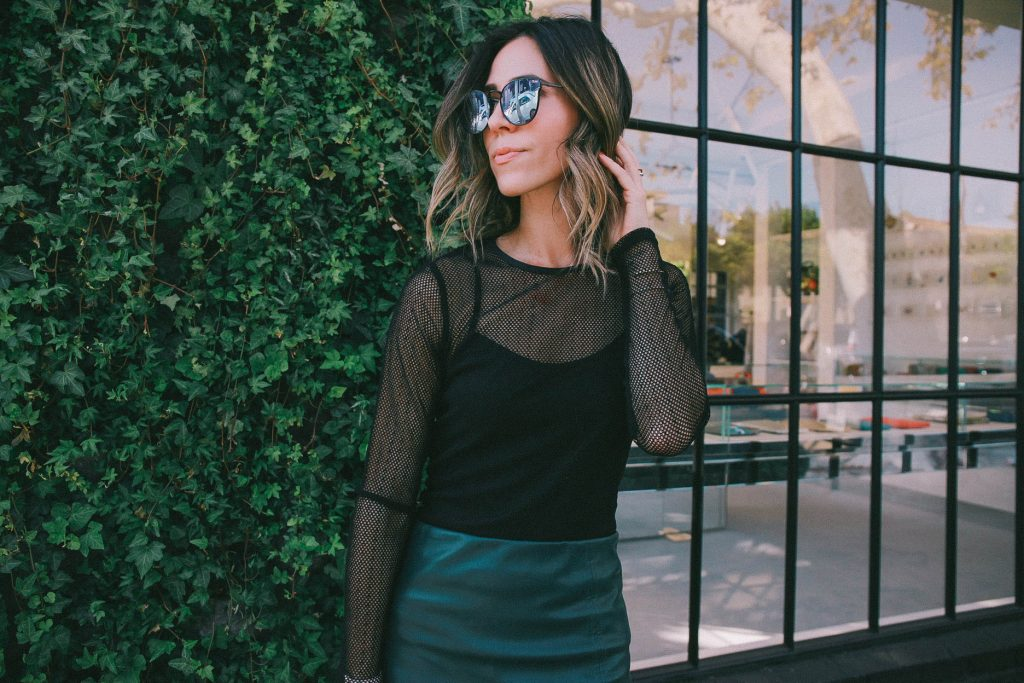 holiday fashion ideas and faux leather pencil skirt