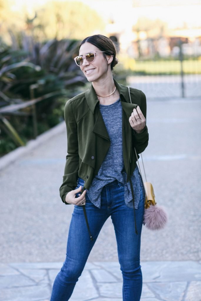 Cropped Ruffled Trench and Chicago Fashion Blogger
