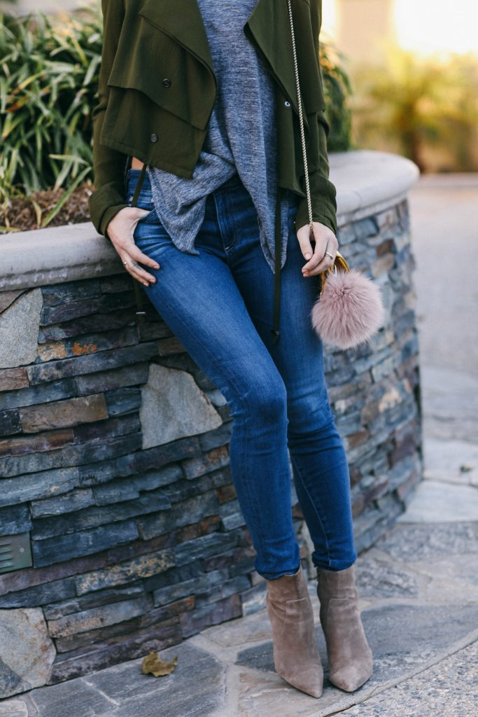 Banana Republic Suede Booties and AG Jeans