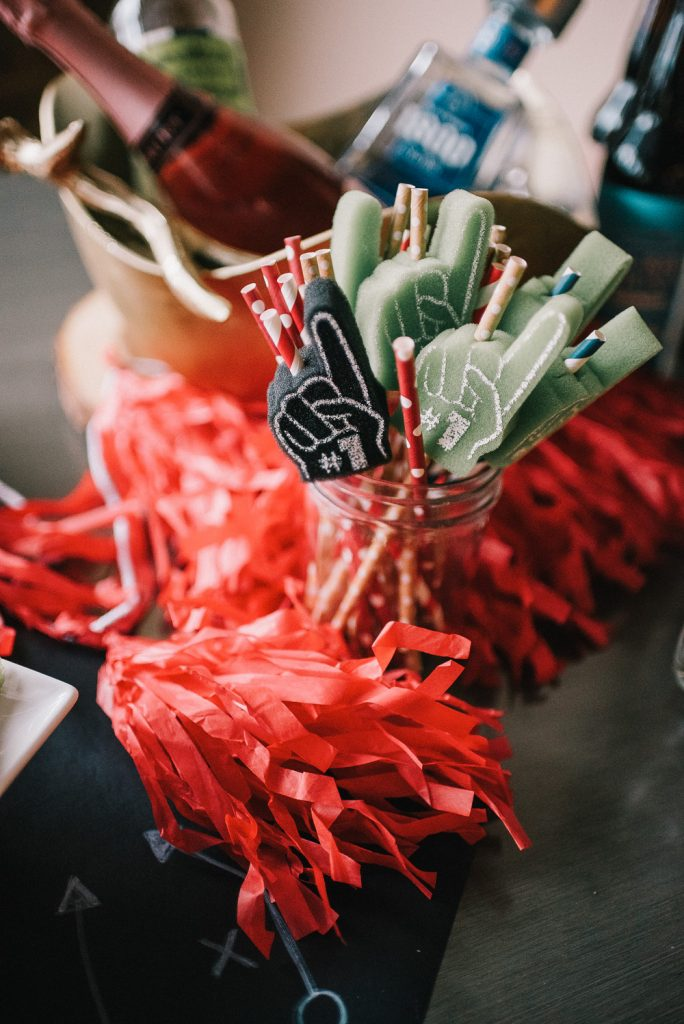 Championship Party tips with The RoomPlace and Foam finger straws