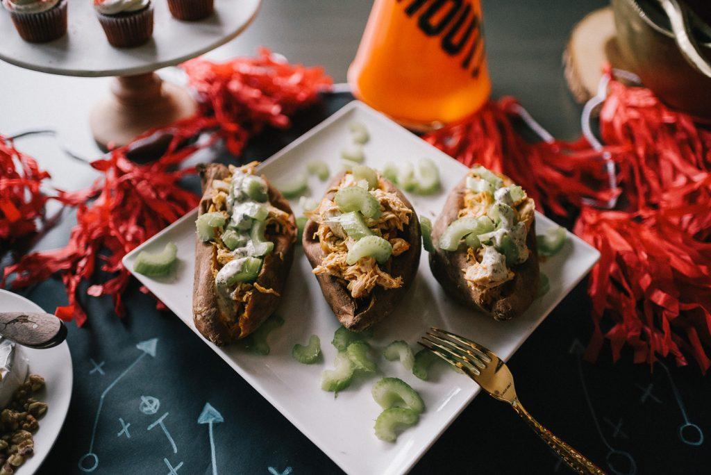 Super Bowl Menu ideas and baked potato recipe