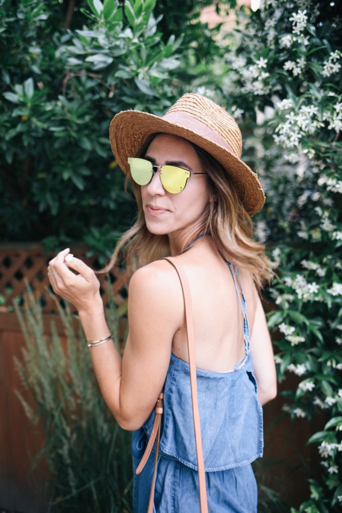 Splitfire Mirrored Sunglasses and Blogger Mary Krosnjar