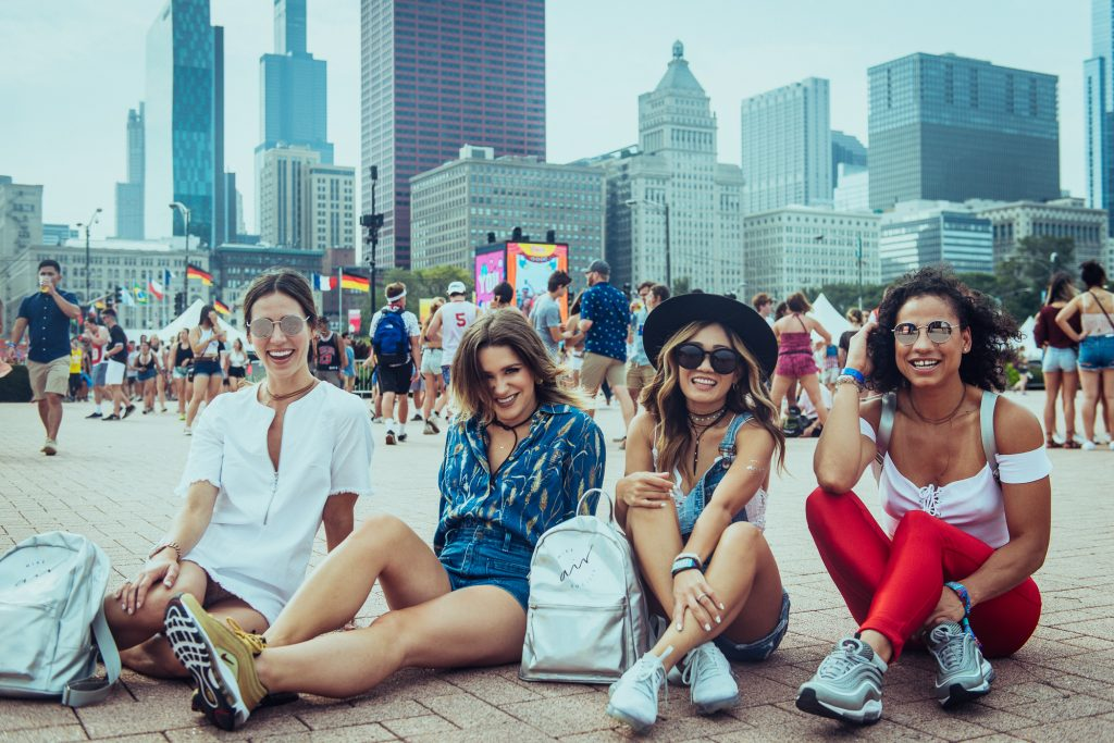 Lollapalooza Day 1 Fashion and Blogger Mary Krosnjar