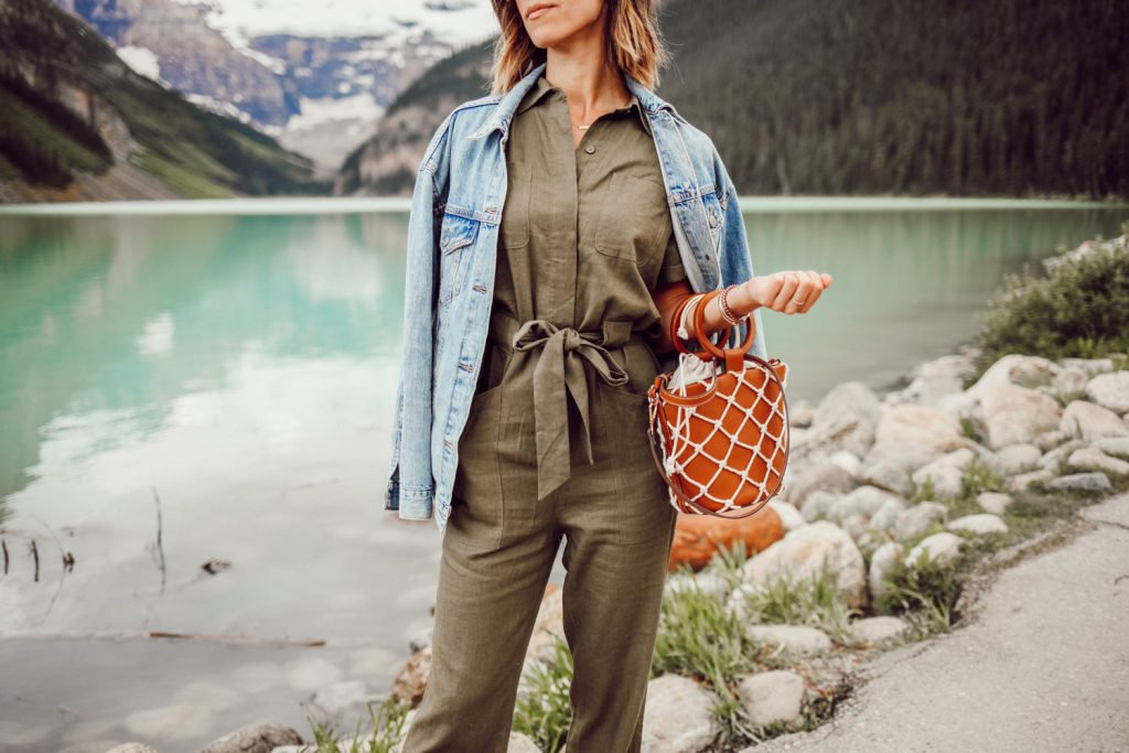 Blogger Mary Krosnjar wearing Women's Boiler Suit Coveralls and Levi's oversized Denim jacket