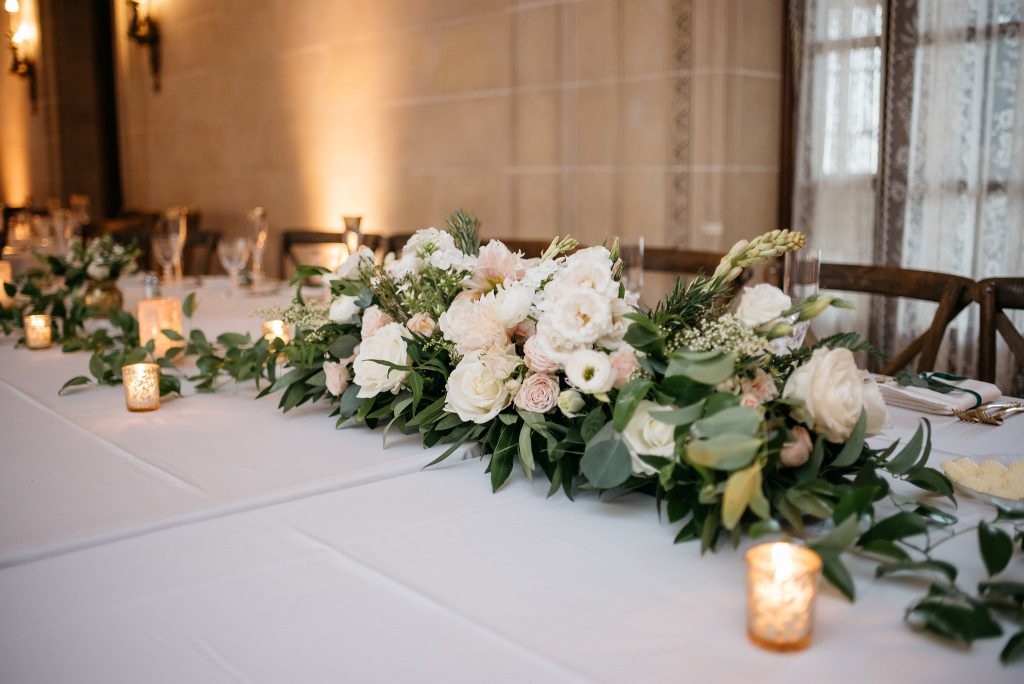 Centerpiece for Head Table + Armour House Mansion