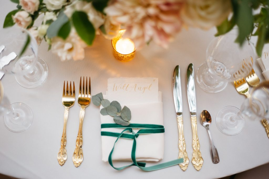 Gold Place setting for wedding