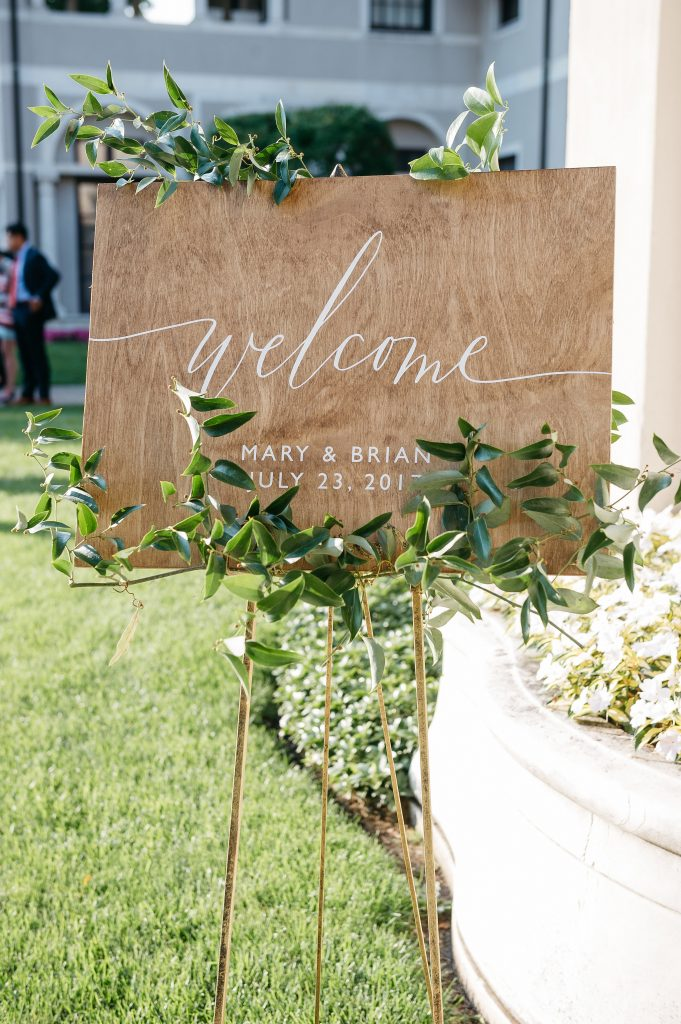 Etsy Welcome Wedding Sign