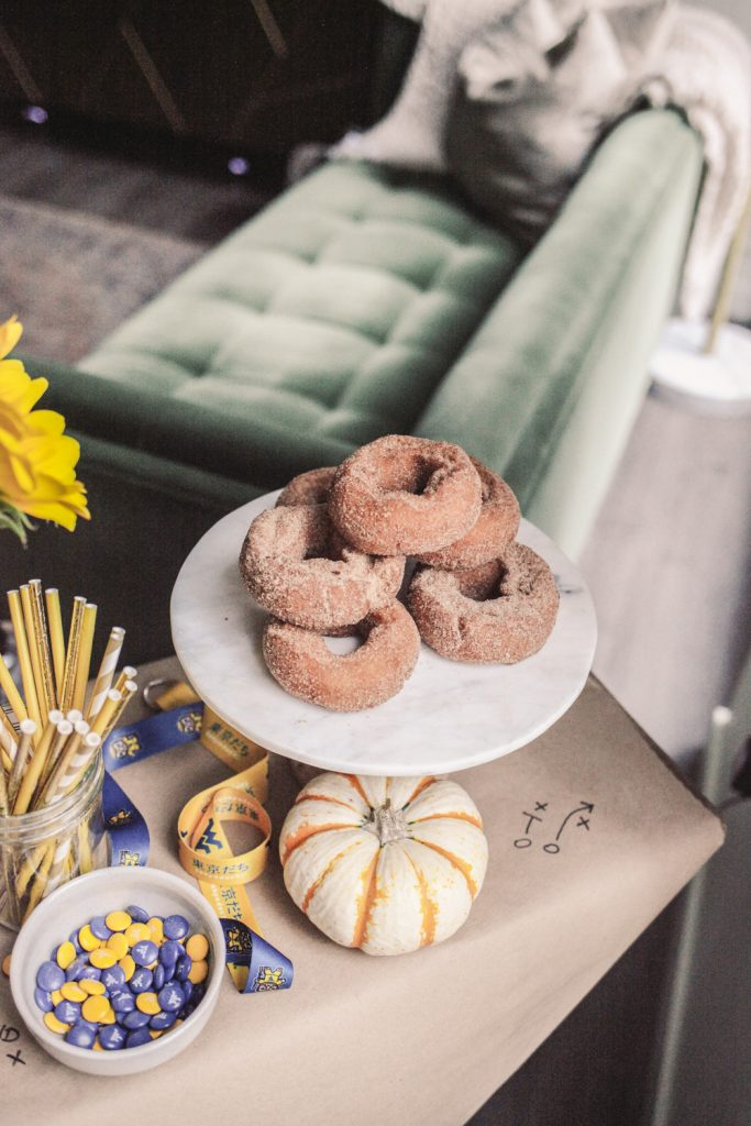 Apple Cider Donuts and Game Day Recipes