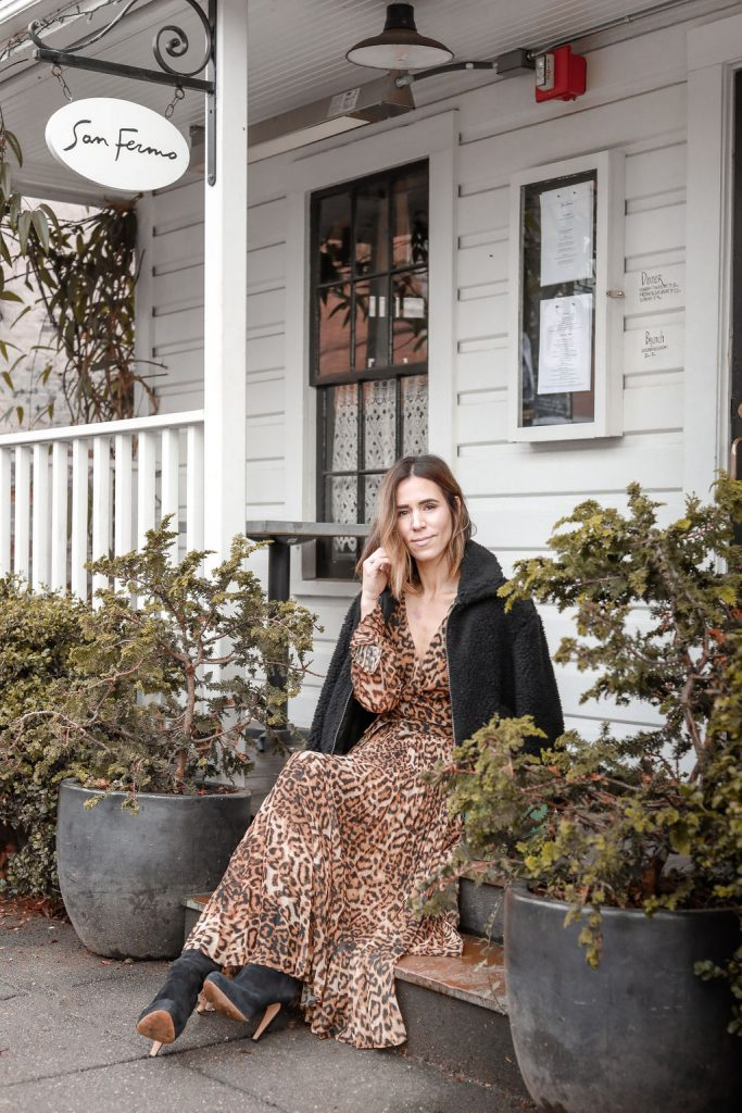 Blogger Mary Krosnjar wearing Who What Wear Womens Teddy Jacket and San Fermo in Ballard