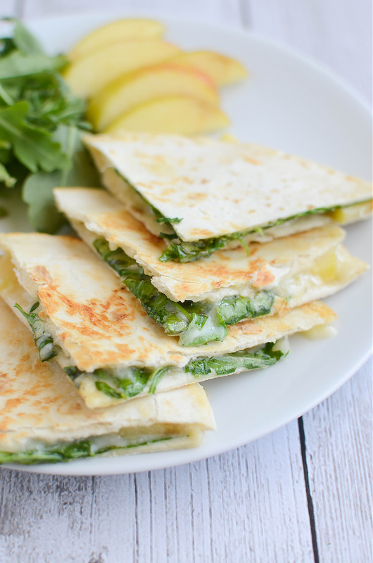 APPLE + BRIE QUESADILLAS