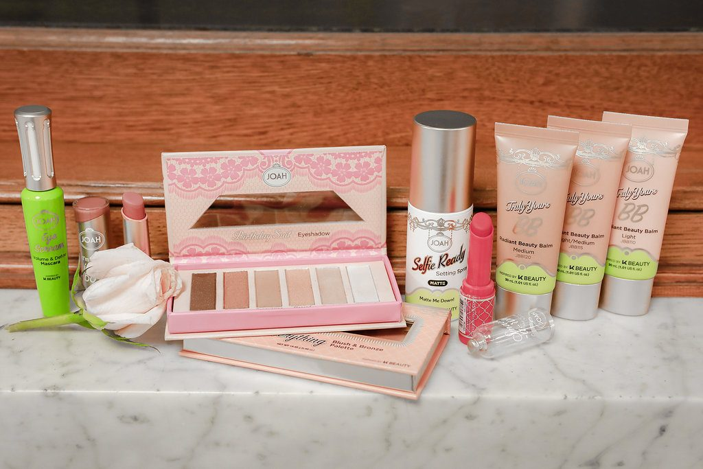 JOAH Truly Yours BB Cream, JOAH Eye Scream Volume and Curl Mascara, JOAH Birthday Suit: Eyeshadow Palette