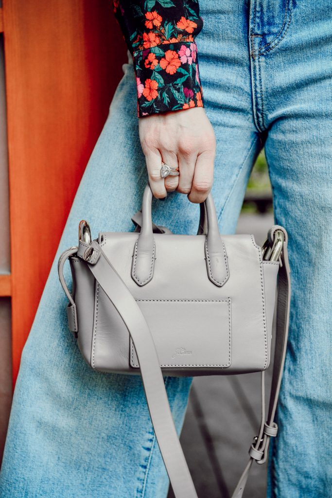 Seattle Fashion Blogger Sportsanista wearing J.Crew Mini Harper Tote and H&M Wide Leg Denim