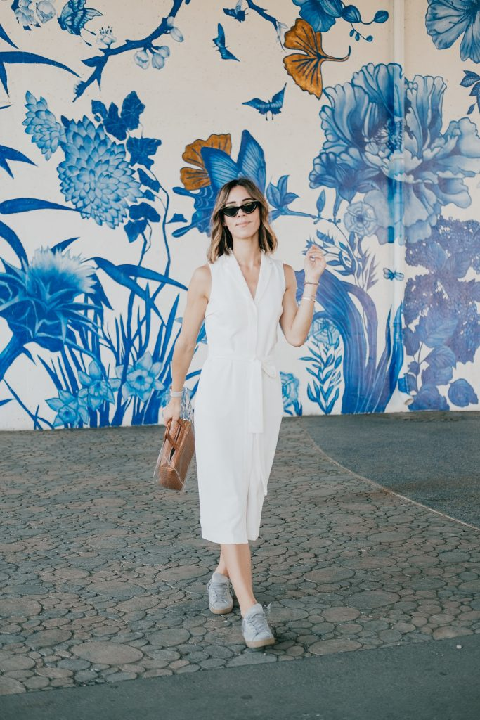 Seattle Fashion Blogger Sportsanista wearing Banana Republic Tencel Trench Dress
