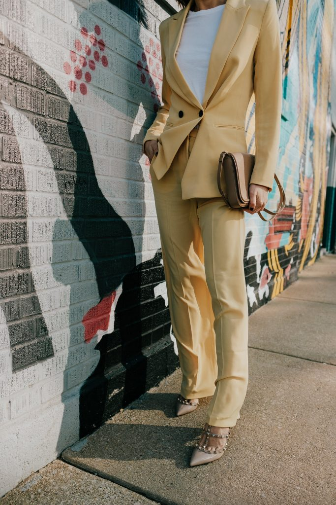 Seattle Fashion Blogger Sportsanista Styling Pastel Suiting for Spring