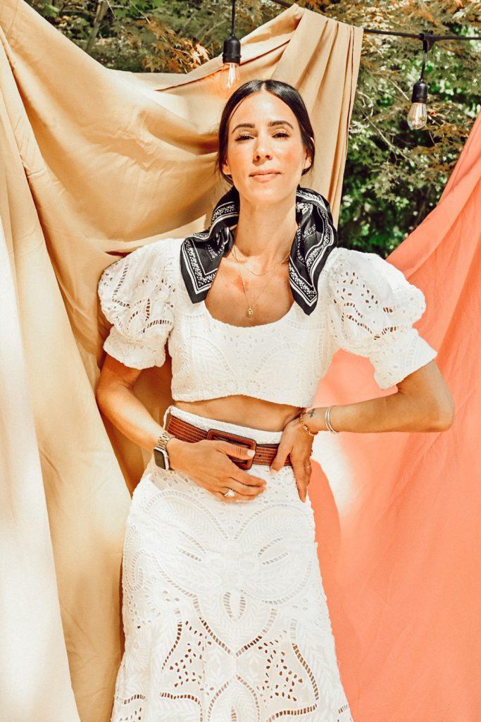 Seattle Fashion Blogger Mary Krosnjar wearing summer whites